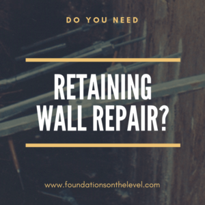retaining wall repair graphic foundations on the level