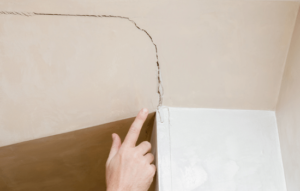 ceiling cracks are a sign of foundation settlement in Carlsbad, CA