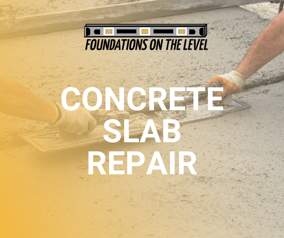 leveling out concrete, slab repair