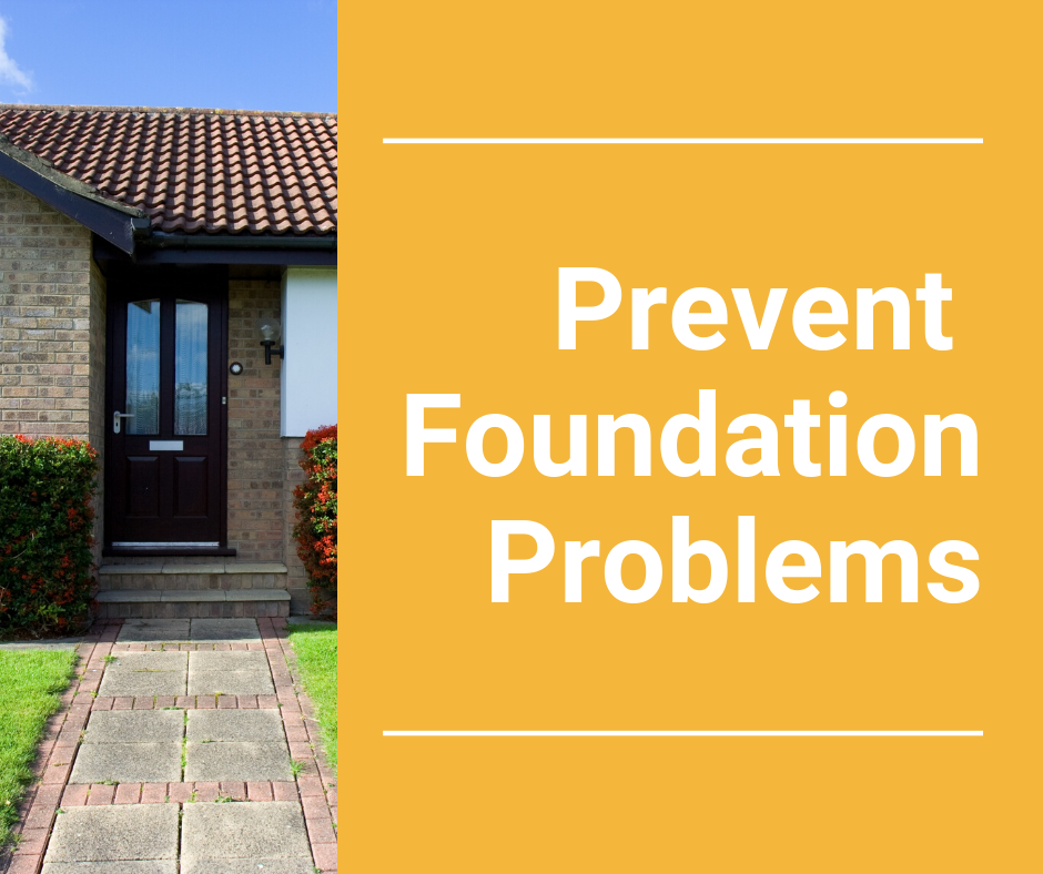 how to help prevent foundation issues