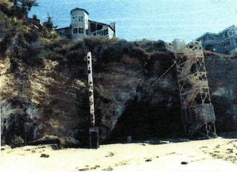 Laguna Beach ocean-view home with natural sea cave beneath.