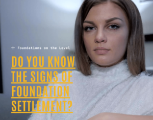 Do you know the signs of foundation settlement?