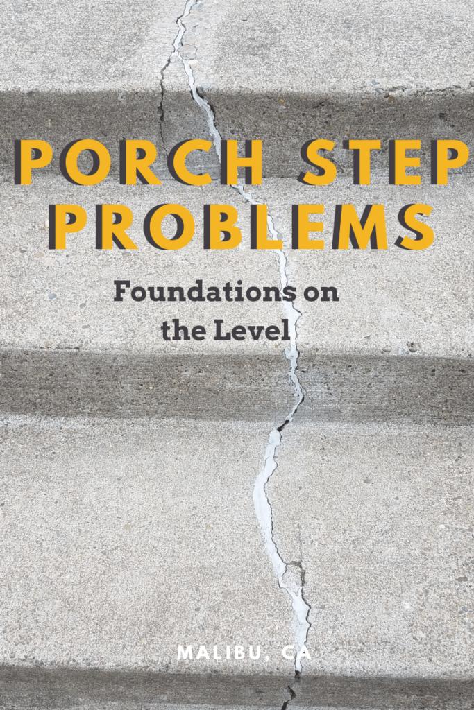 Porch steps with cracks