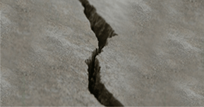 Crack in foundation concrete image