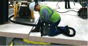 Slab leveling with grout image